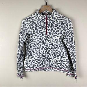 Leopard print pullover fleece sweatshirt 14/16